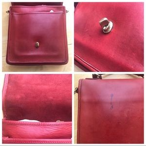 Coach Bags - Coach vintage Station bag red leather crossbody